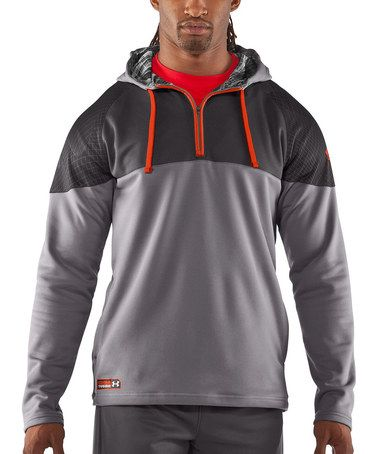 Concrete UA Combine Training Fleece Pullover Hoodie by Under Armour® on #zulily!