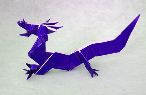Origami Eastern Dragon By Jun Maekawa Folded From A Square Of Japanese Foil Gilad Aharoni On Giladorigami