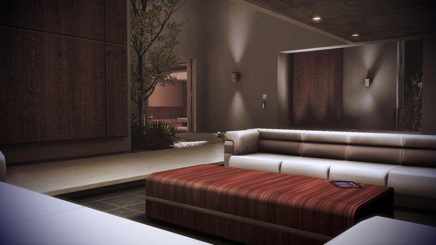 Mass Effect 3 Citadel Apartment Upstairs Living Room