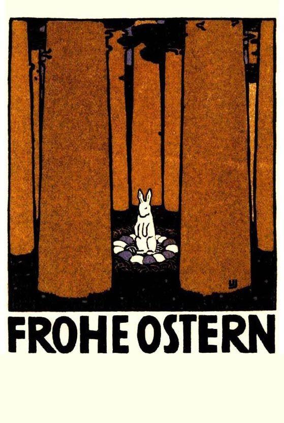 Urban Janke Happy Easter Postcard  Wiener Werksttte