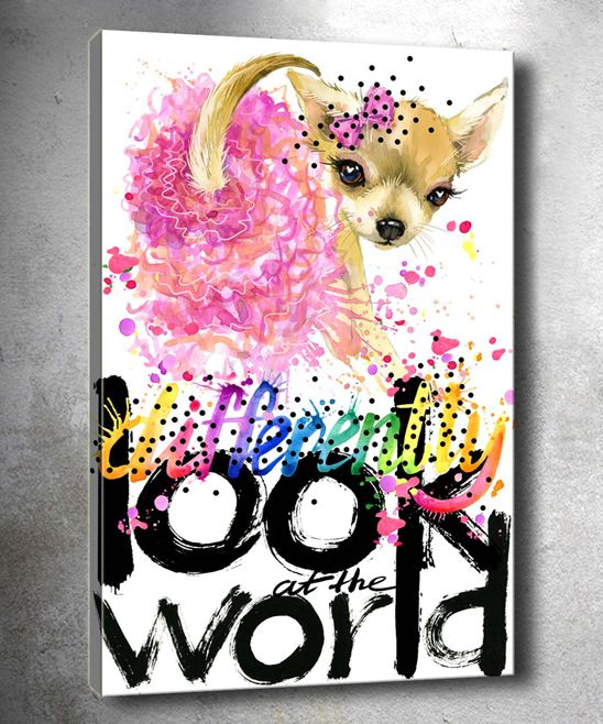 Look World Wrapped Canvas