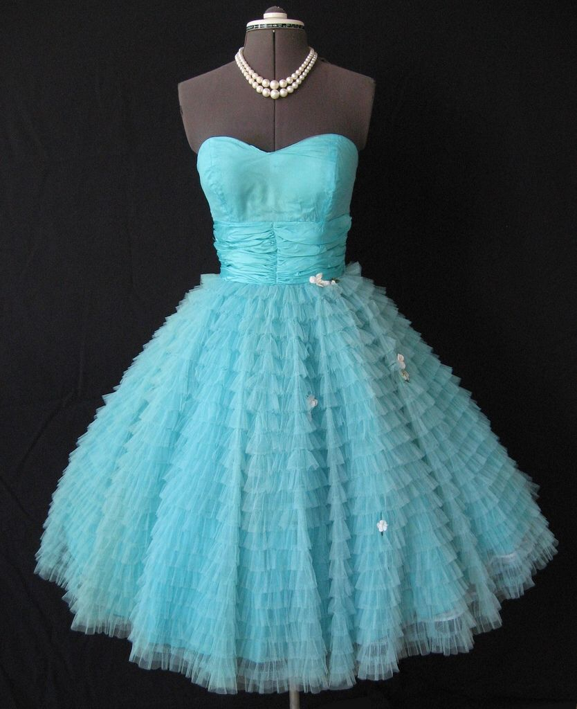 Strapless us prom dress vintage dress pinterest