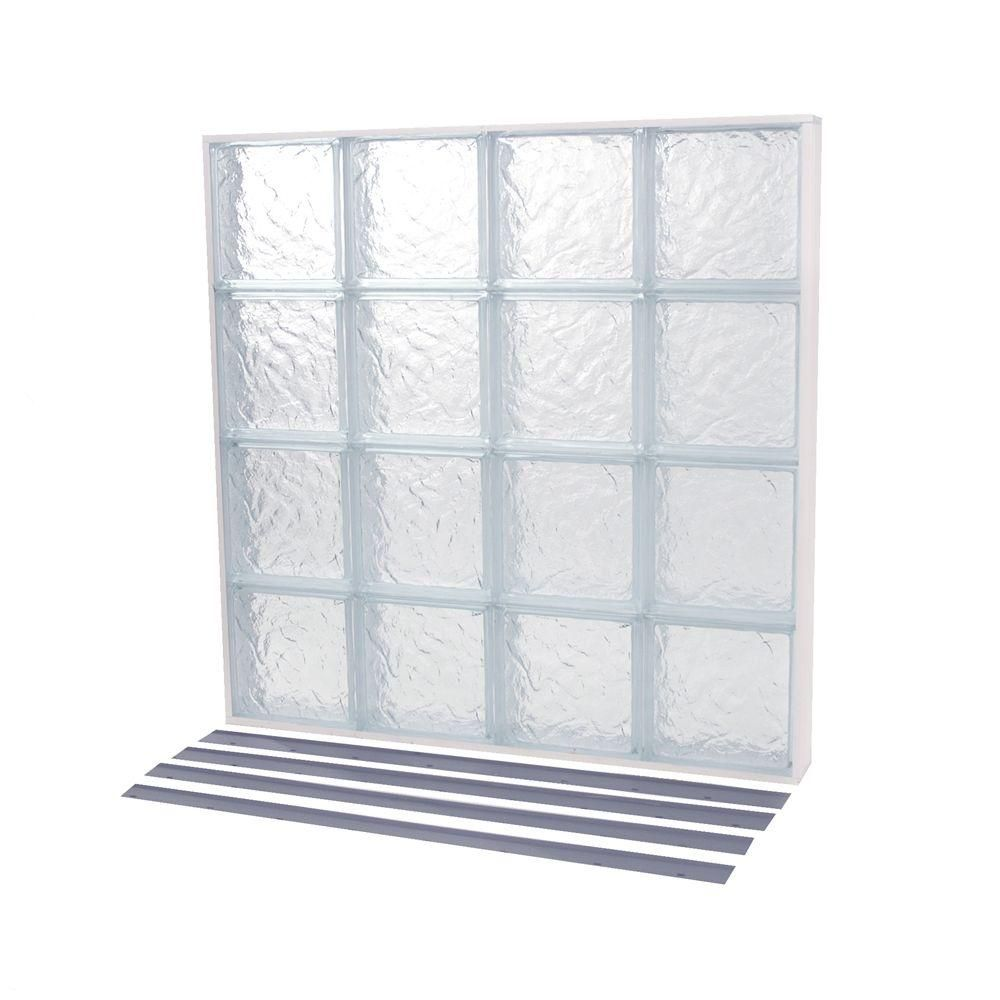 25 625 In X 39 375 In Nailup2 Ice Pattern Solid Glass Block Window Glass Block Windows Glass Blocks Window Prices