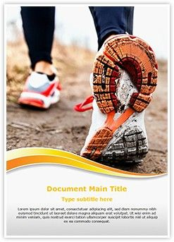 Running In Sport Shoes Word Document Template is one of the best Word  Document Templates by