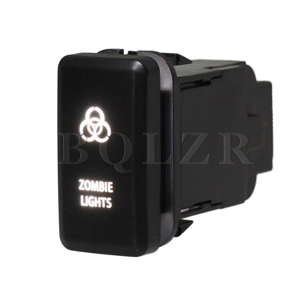 Bqlzr Push Bottom Switch 4 Circles Symbol On Off White Led For