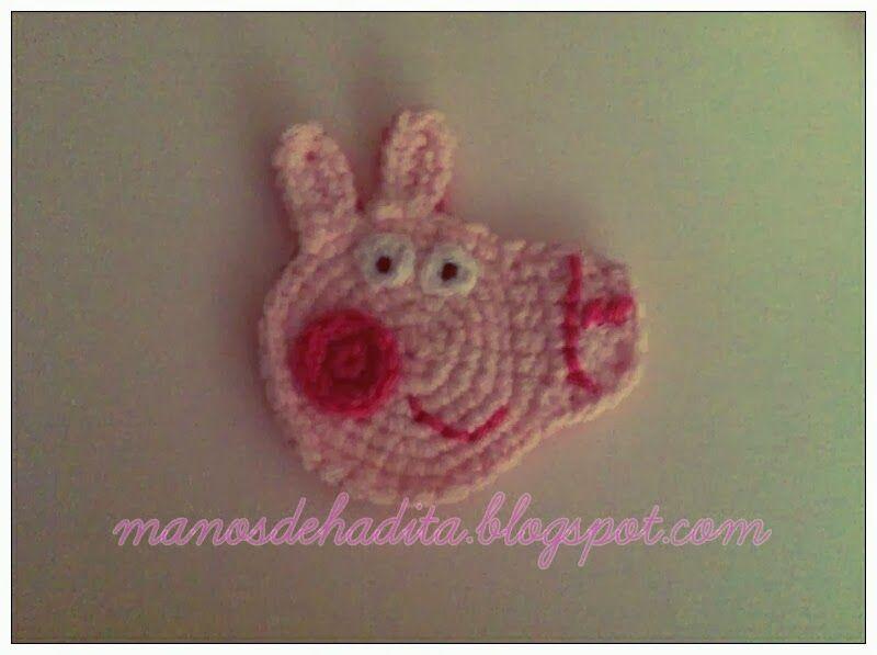 Amigurumi Tutorial Peppa Pig : Manos de hadita aplique de peppa pig a crochet apliques
