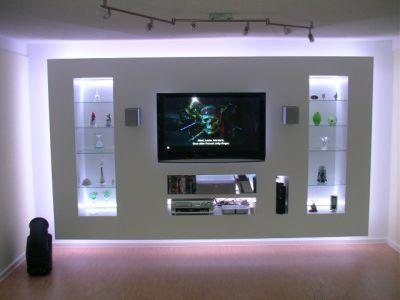 Wohnzimmer ideen tv wand  Pin von Christina Mesmer auf Wohnung | Pinterest | Indirekte ...