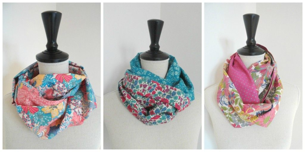 Snood 2 tours accessoires pinterest tuto snood for Couture a tours