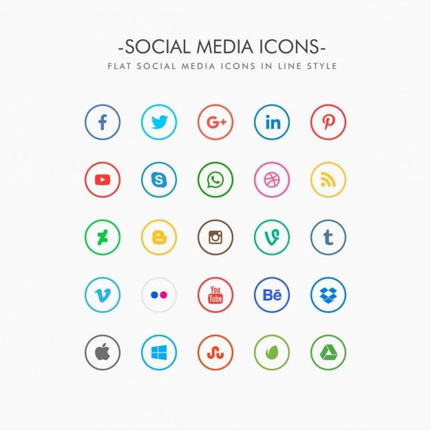 Graphic Resources For Everyone Media Icon Social Media Icons