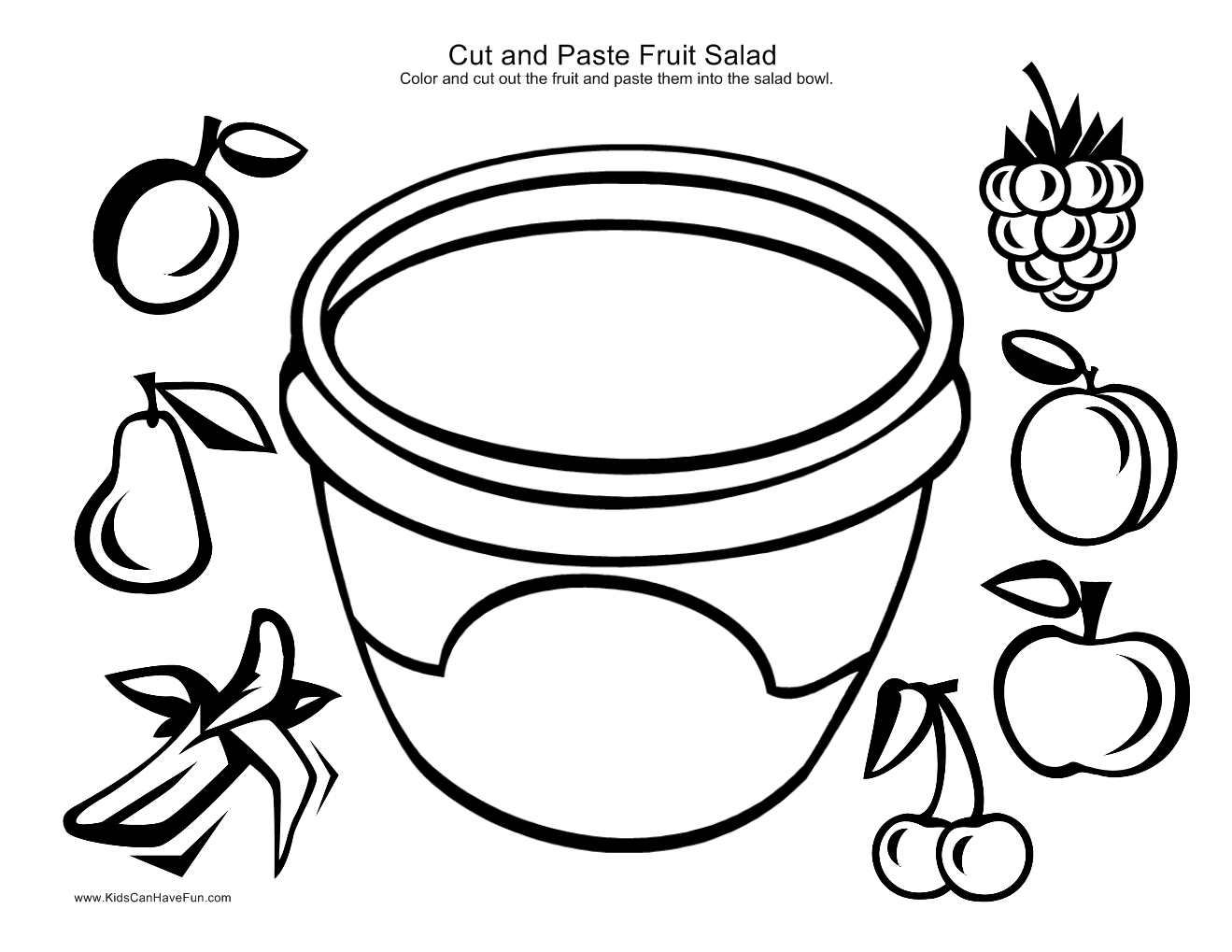 Cut And Paste Fruit Salad