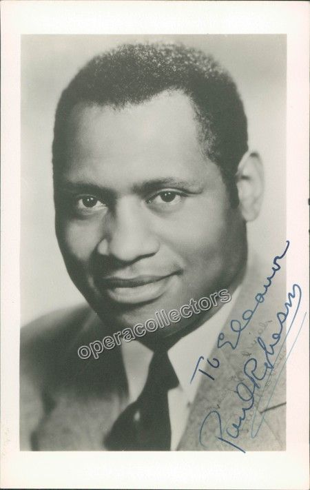 001 Robeson, Paul Signed Photo Black history facts