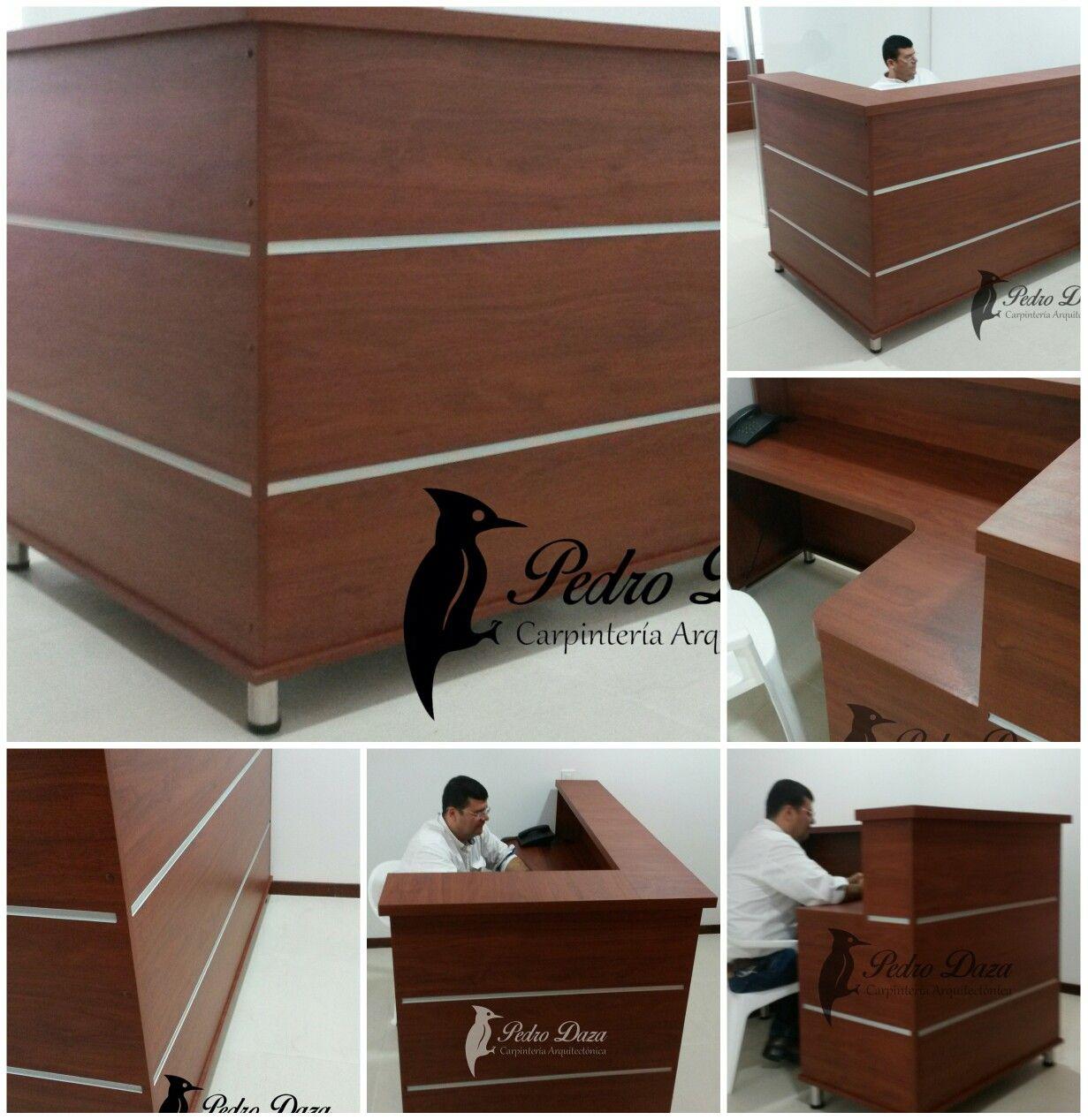 Mueble de recepcion oficina pedrodaza carpinteria for Mueble recepcion oficina
