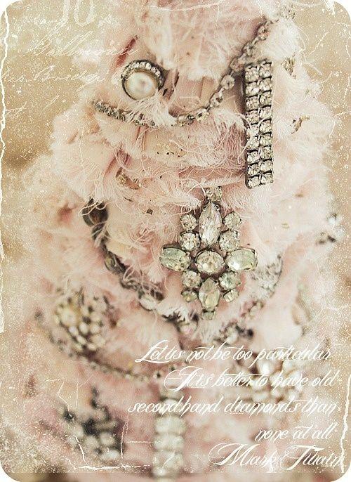 "(via Pink vintage jewels Christmas tree… | ❄ ""My"" Pink Christmas ❄)"
