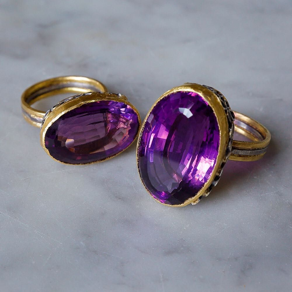 Judy Geib Womens Amethyst Ring