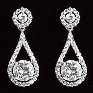 Drop Earrings Women's Platinum Earring Cubic Zirconia