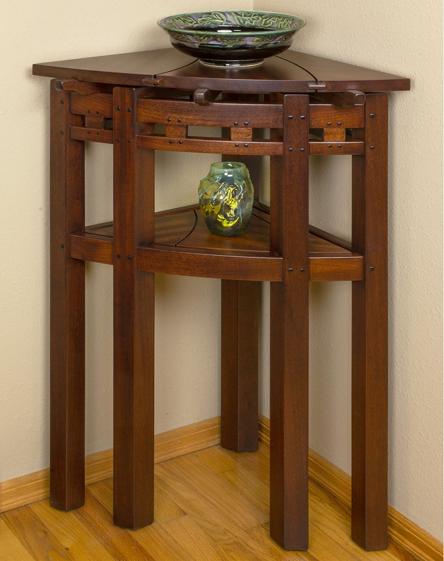 Tall Corner Table Corner Table Table Wood Projects