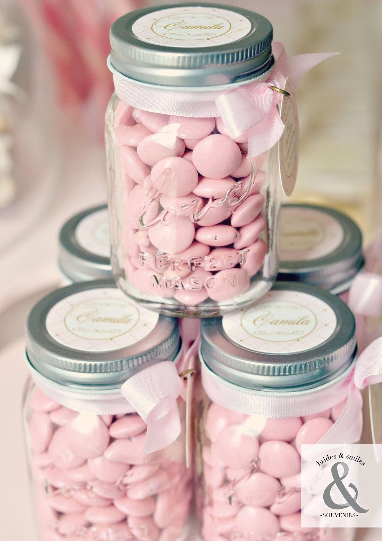 pinterest mason jar bridal shower favors%0A Love mason jar candy favor container