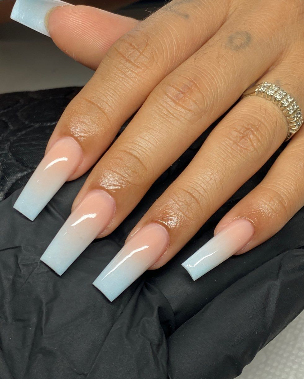 Jhohannails Jhohannails Posted On Instagram Jul 3 2020 At 10 00pm Utc In 2020 Ombre Acrylic Nails Square Acrylic Nails Pretty Acrylic Nails
