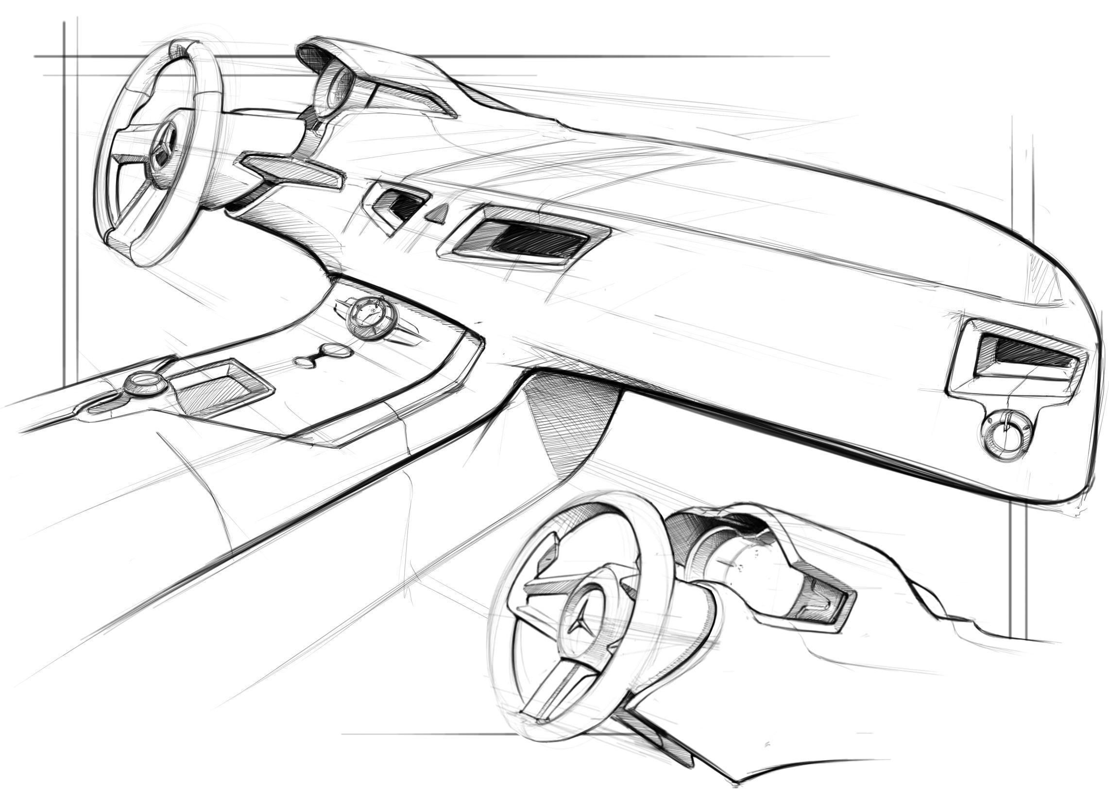 Nice interior sketch | Awesomness | Pinterest | Auto skizze, Skizzen ...
