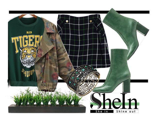 """Shein Tiger sweatshirt"" by k-mendez-dxlii ❤ liked on Polyvore featuring Kate Spade, Vintage, Marni and Jennifer Miller"
