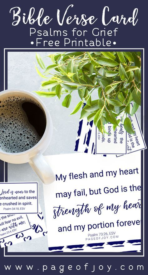 Psalms For Grief Cards Pinterest Psalms Bible Verses And Bible
