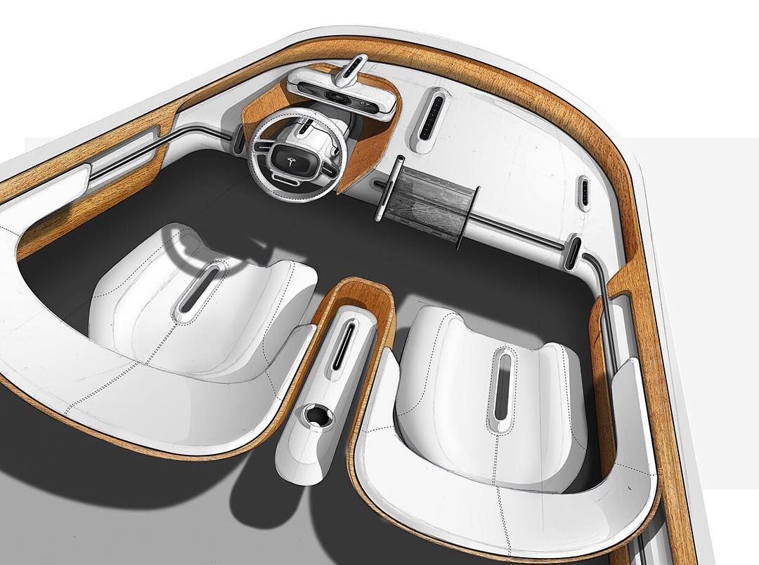 "1,073 Likes, 1 Comments - Designerspen/디자이너 펜 (@designerspen) on Instagram: ""Tesla interior concept sketch  By / Jerome Konieczka"""
