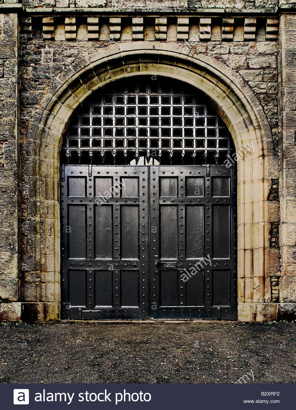 portcullis-and-prison-gates-in-an-old-jail- & portcullis-and-prison-gates-in-an-old-jail-in-jedburgh-scotland ...