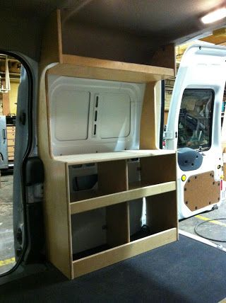 Photo Ford Transit Connect Camper Van Diy Flat Pack Kit Cabinets