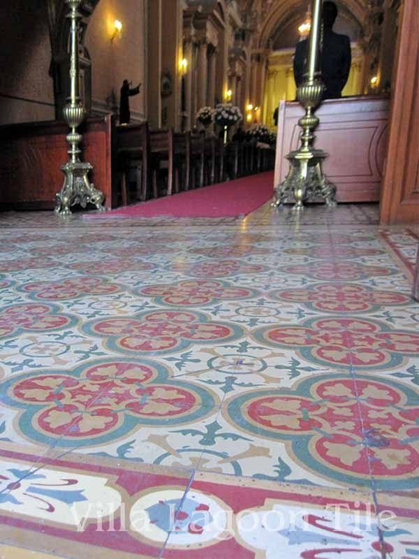 Antique Mexican Cement Tiles In A Church Villa Lagoon
