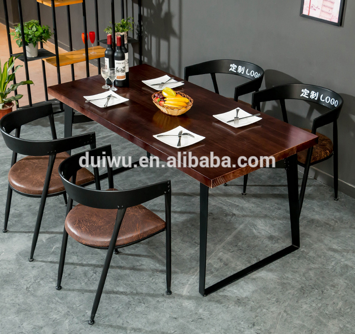 Wooden Industrial Restaurant Dining Table And Chair Wholesale Simple Restaurant Dining Room Chairs Design Ideas