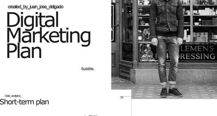 Digital Marketing Plan Template  Slides English Version  Juan