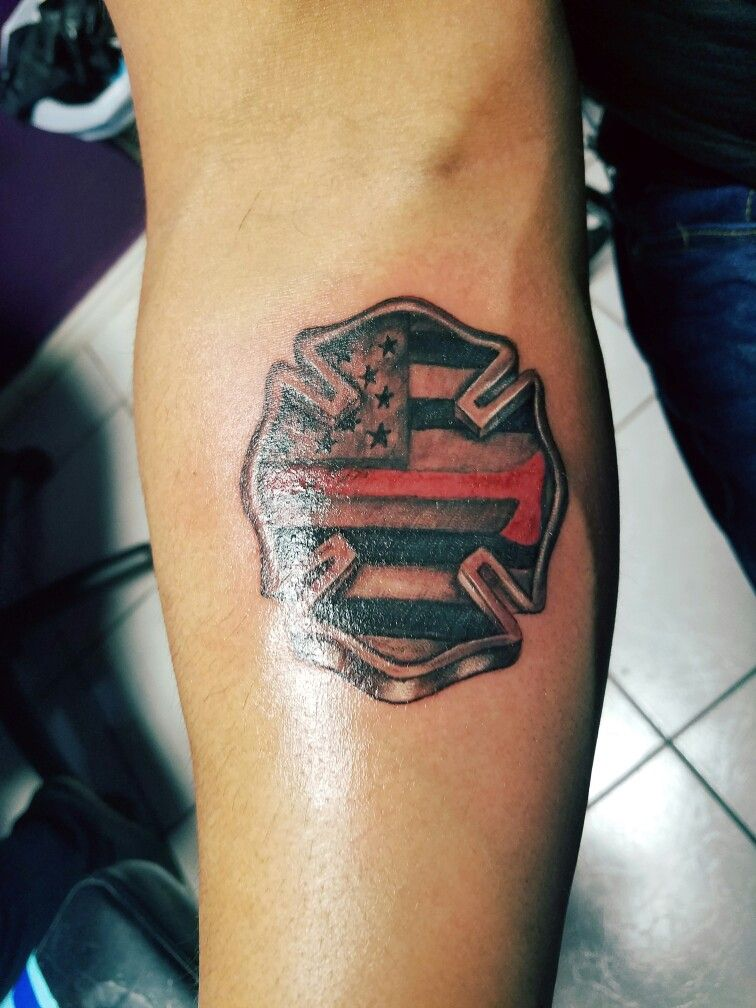 Firefighter Tattoo By David Turrubiate Of Amazink Tattoo Brownsville