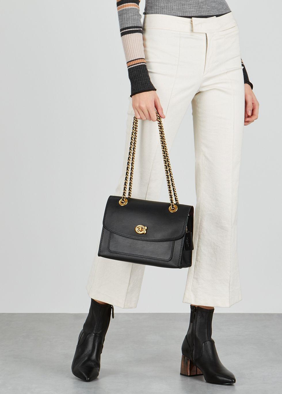 be1c39892076f Parker black leather shoulder bag in 2019