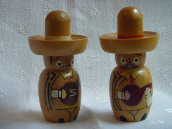 Vintage Novelty Mexican Musician Salt and by EauPleineVintage, $12.00