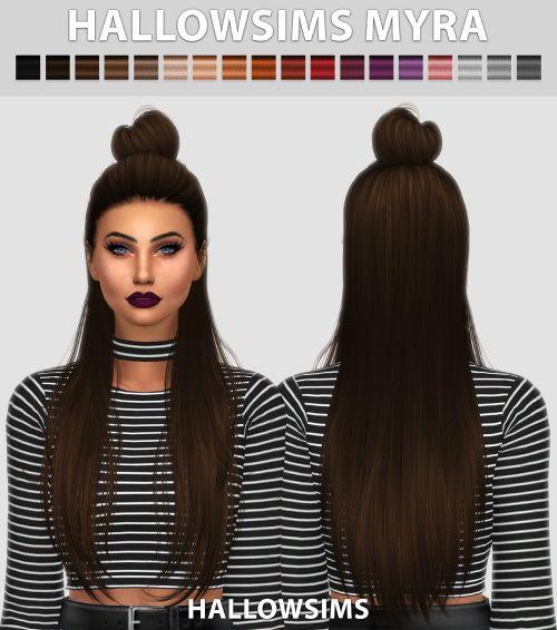 Hallow Sims Myra Hair Sims4 Păr