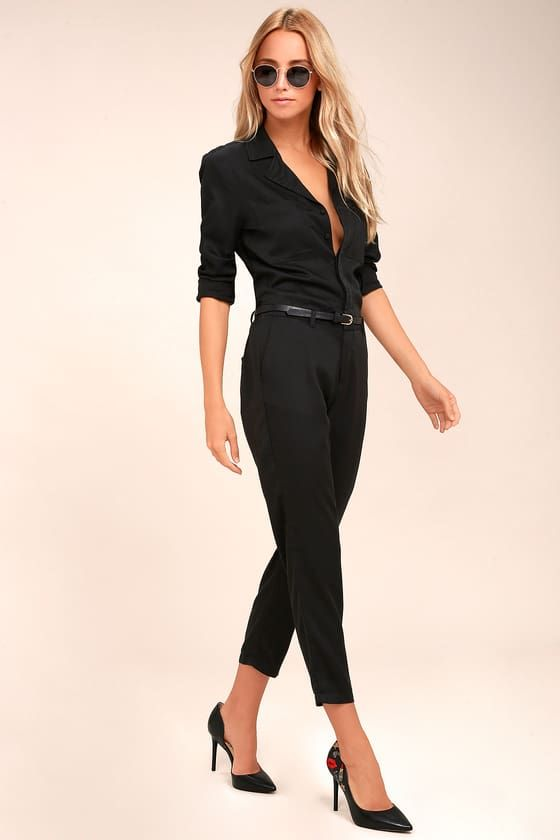 77f2ff1d4d4f We are loving the new Americana look of the STONE ROW x Georgia May Jagger  Mechanic Black Jumpsuit! Soft