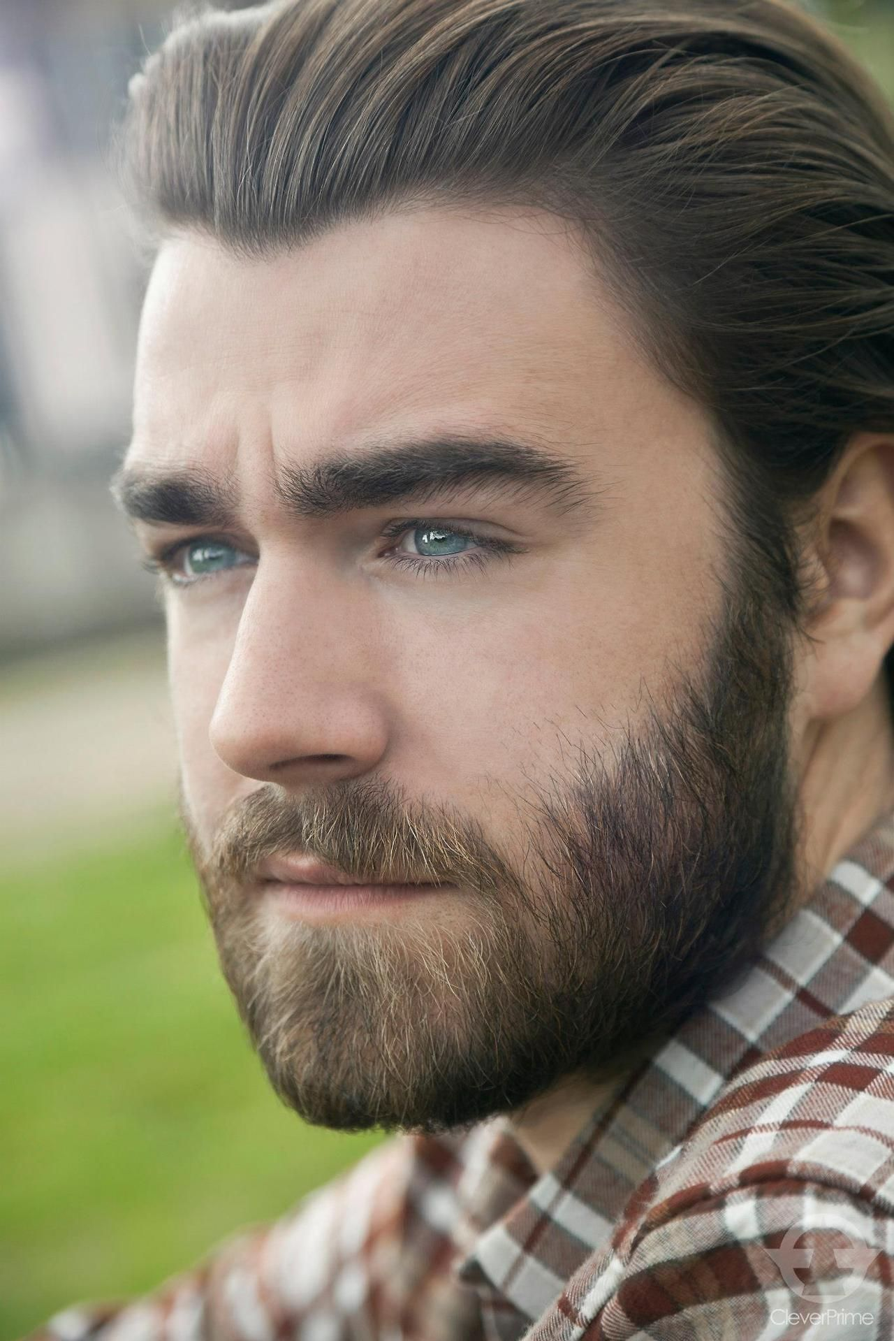 Short haircuts for men with beards slicked hair and piercing eyes  beard styles  pinterest  slicked