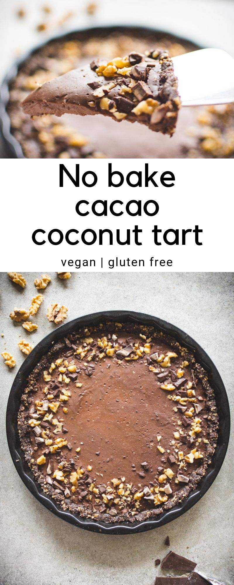 No Bake Cacao Coconut Tart