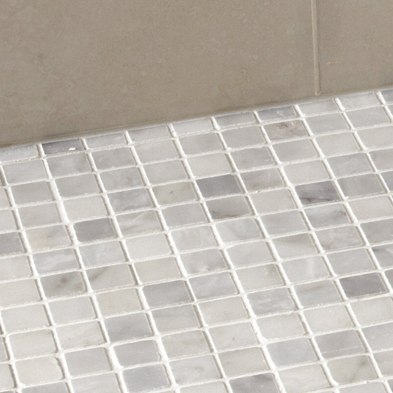 Mosaique Mineral Marbre Artens Blanc 2 3x2 3 Cm Leroy Merlin Marbre Blanc Sol Et Mur Marbre