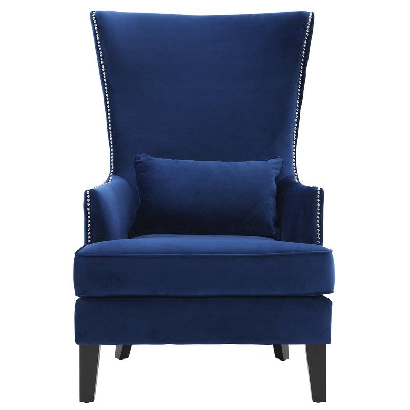 Jacinto Wingback Chair High Back Accent Chairs Velvet Wingback