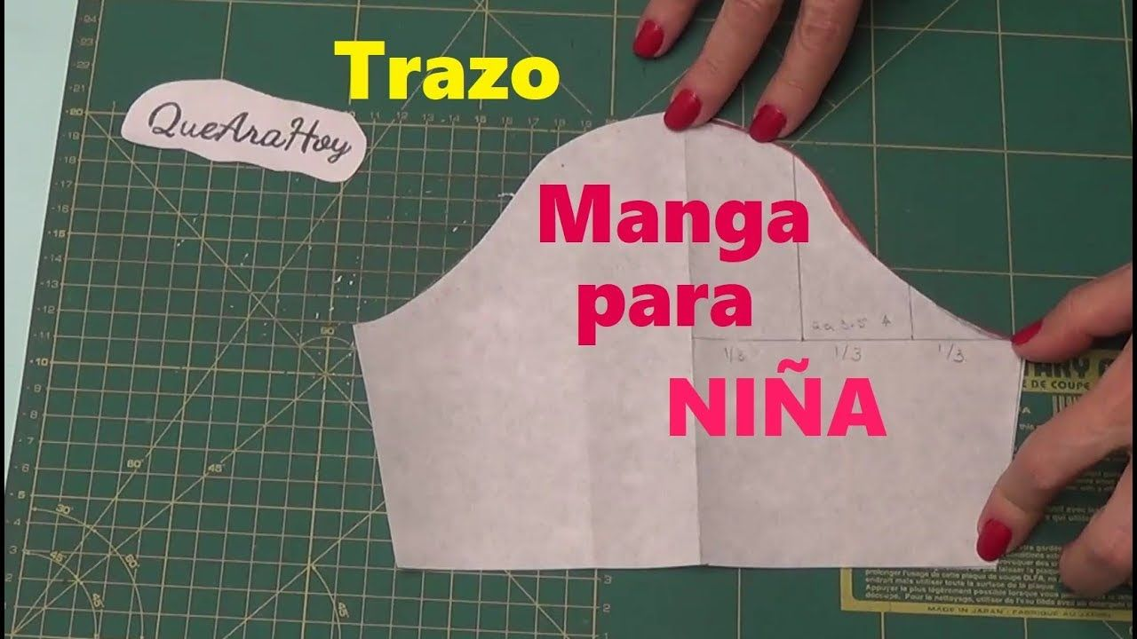 Como hacer manga para vestido de niña. Clase # 94