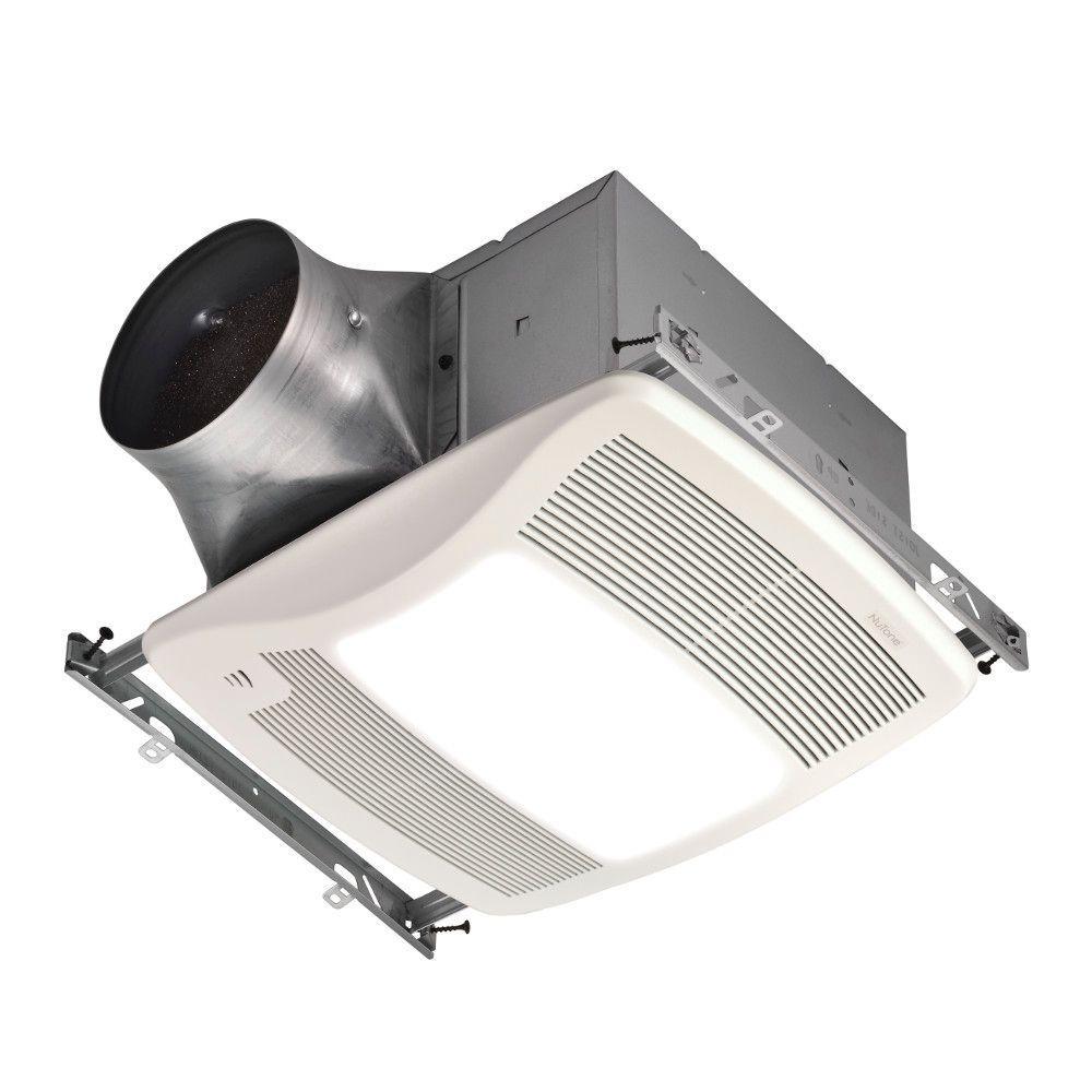 Nutone Ultra Green With Humidity Sensing 110 Cfm Ceiling Exhaust Bath Fan With Humidity Sensing And Light Energy Star Zn110hl The Home Depot Fan Light Ventilation Fan Bathroom Fan