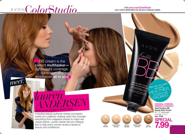 AVON BB Cream is my favorite summer accessory!  At $7.99, it is cheaper than most foundation and SO much lighter and healthier for your skin!  Try it today!      StephanieDalrymple.AvonRepresentative.com    GetMyAvon.net