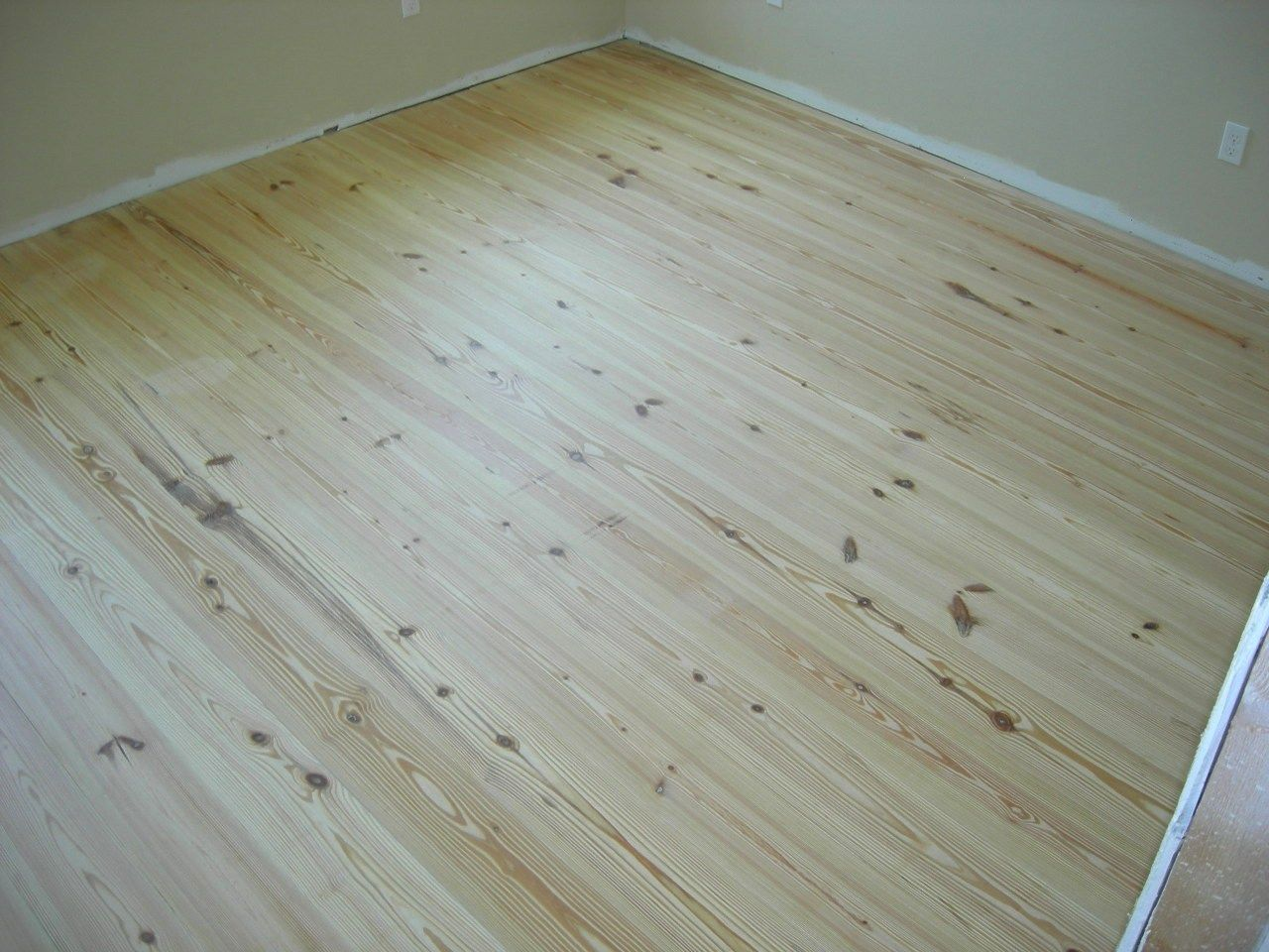 Unfinished Heart Pine Flooring - around $3 per sq ft plus ...
