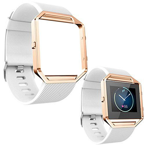 Fitbit Blaze Accessory Band,FUA® Soft Silicone Watch band Wrist strap For Fitbit Blaze Smart Watch + [Metal Frame ] (White ) - http://www.exercisejoy.com/fitbit-blaze-accessory-bandfua-soft-silicone-watch-band-wrist-strap-for-fitbit-blaze-smart-watch-metal-frame-white/fitness/