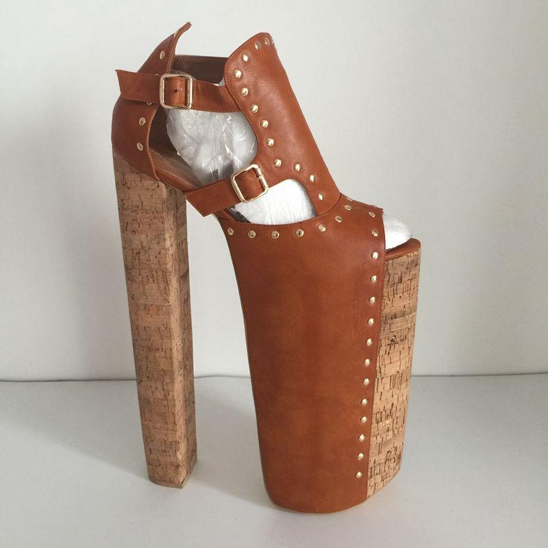 Aliexpress Com Buy Diy Thick Heels Women Sandals Shoes Size 14 Chunky Heels 35cm Platform 25cm Shoes Ladies Peep Toe C Platform Shoes Heels Thick Heels Heels