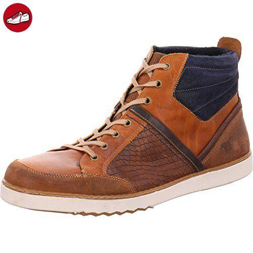 Mustang Herren High-Top Sneaker Braun Leder, Schuhgröße EUR 50 ( Partner da48b9acee
