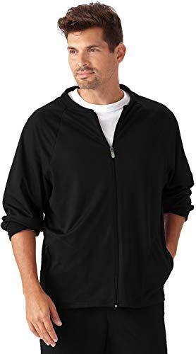 New Jockey 2397 Men's Tech Fleece Scrub Jacket - Comfort ...