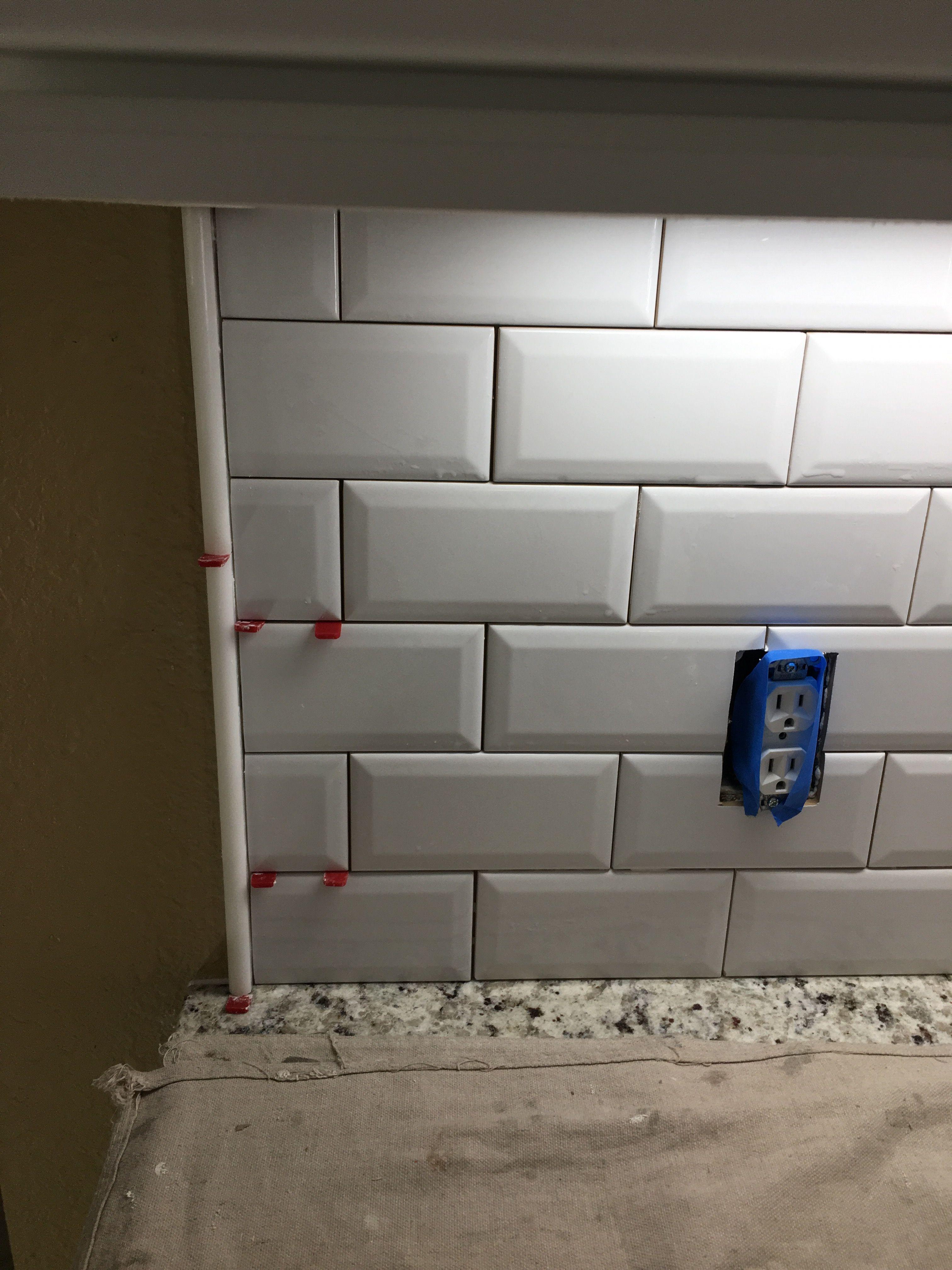 beveled subway tile backsplash fabulous