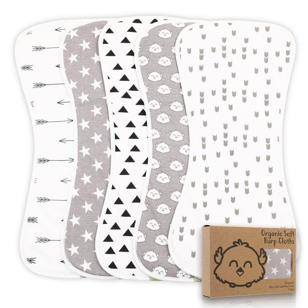baby shower gift organic burp cloths organic swaddle blanket organic baby gift set gender neutral baby gift